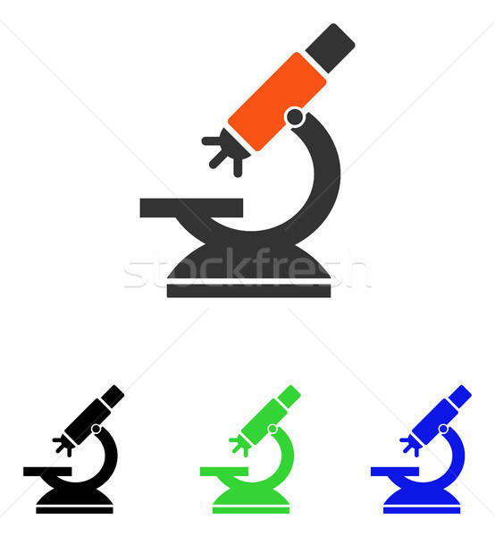 Labs Microscope Flat Vector Icon Stock photo © ahasoft
