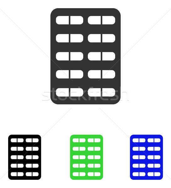 Pill Blister Flat Vector Icon Stock photo © ahasoft