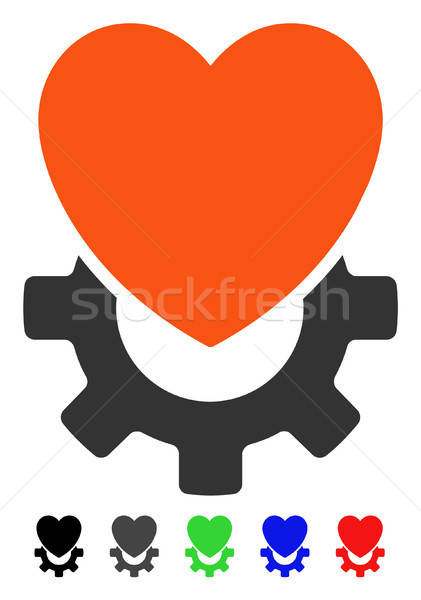 Mechanical Heart Flat Icon Stock photo © ahasoft