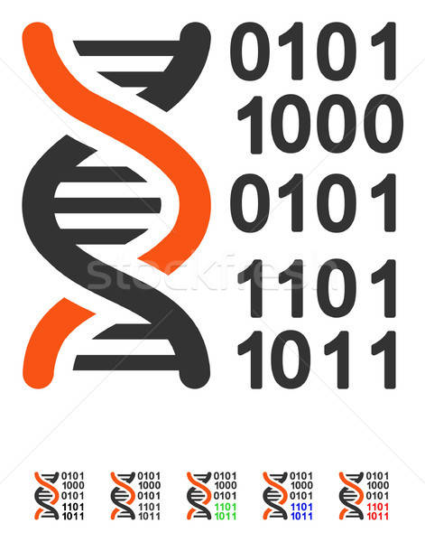 Genome Code Flat Icon Stock photo © ahasoft