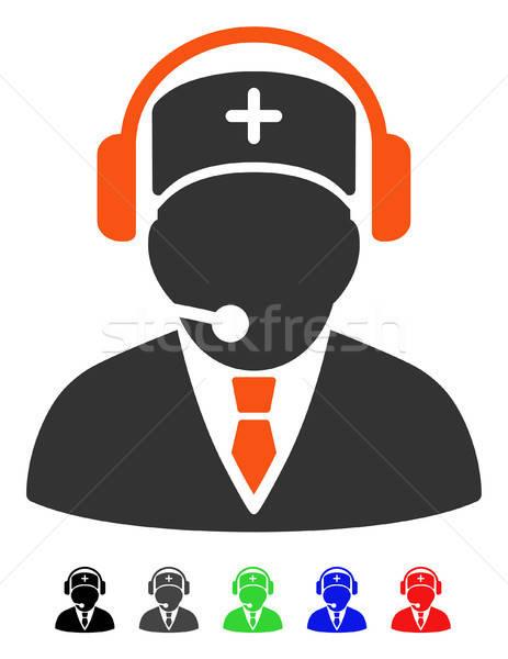 Emergencia operador icono vector color Foto stock © ahasoft