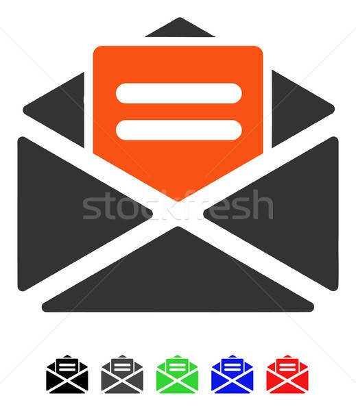 Open Mail Flat Icon Stock photo © ahasoft