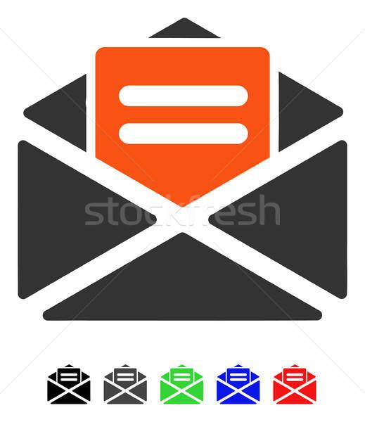 Açmak posta ikon vektör renkli renk Stok fotoğraf © ahasoft