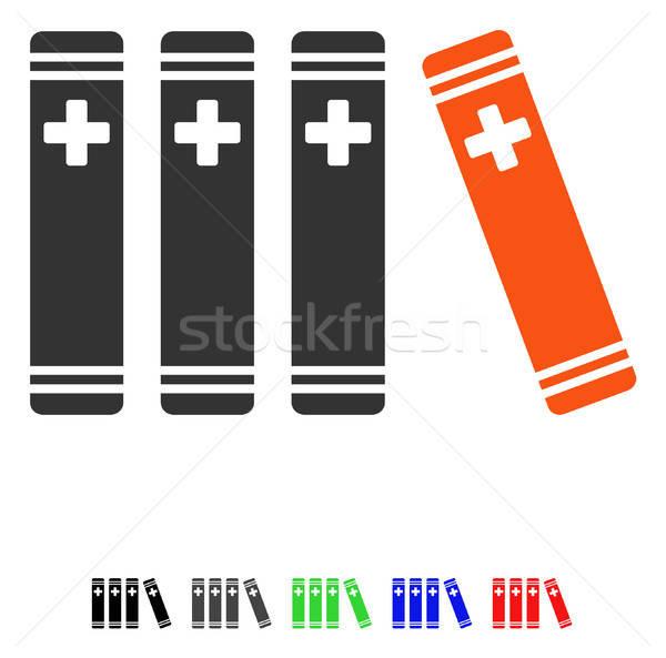 Medical Books Flat Icon Stock photo © ahasoft