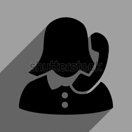 Receptionist icona colorato colore nero grigio Foto d'archivio © ahasoft