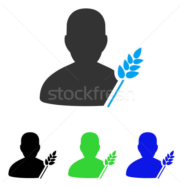 Agriculture Farmer Flat Icon Stock photo © ahasoft
