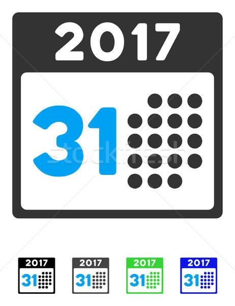 Utolsó hónap nap ikon vektor piktogram Stock fotó © ahasoft