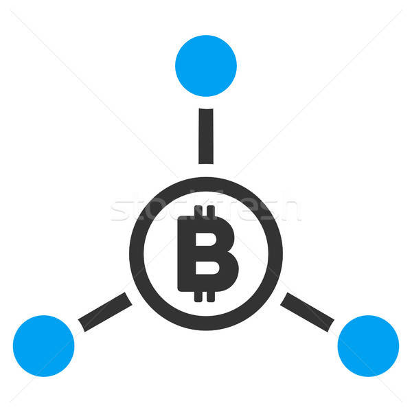 Bitcoin icona vettore applicazione web design Foto d'archivio © ahasoft