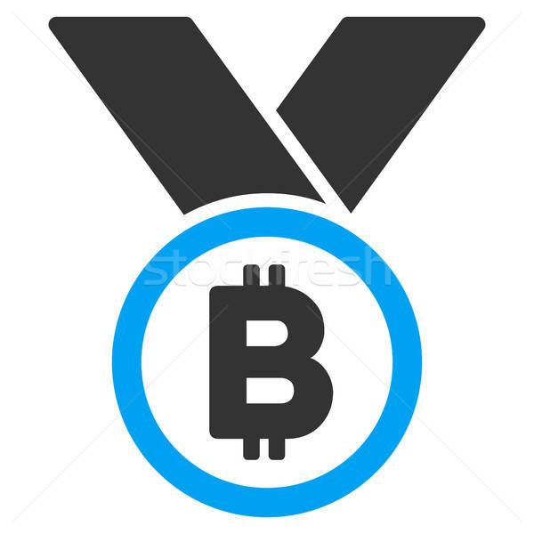 Bitcoin medaille icon toepassing web design Stockfoto © ahasoft