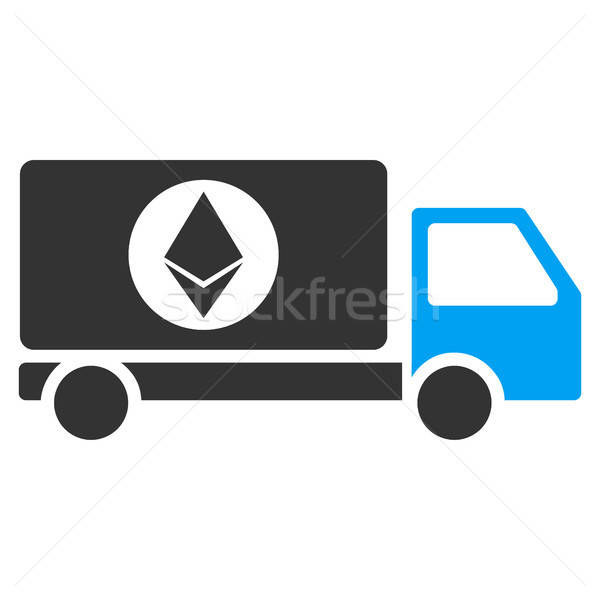 Ethereum Delivery Lorry Flat Icon Stock photo © ahasoft