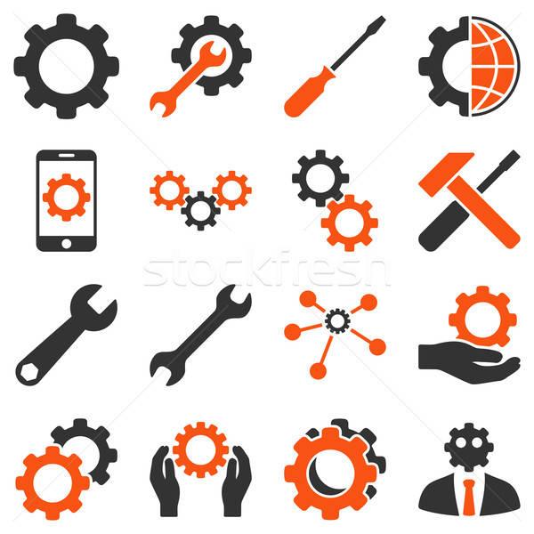 Stockfoto: Opties · dienst · tools · vector · stijl