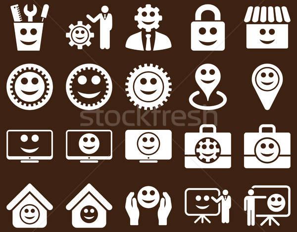 инструменты передач улыбается управления иконки вектора Сток-фото © ahasoft