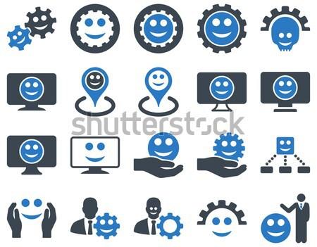 émotion hiérarchie sms icônes vecteur Photo stock © ahasoft