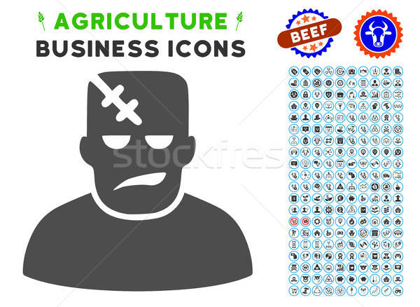 Frankenstein Icon with Agriculture Set Stock photo © ahasoft