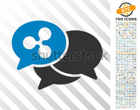 Message Cloud Icon with Set Stock photo © ahasoft