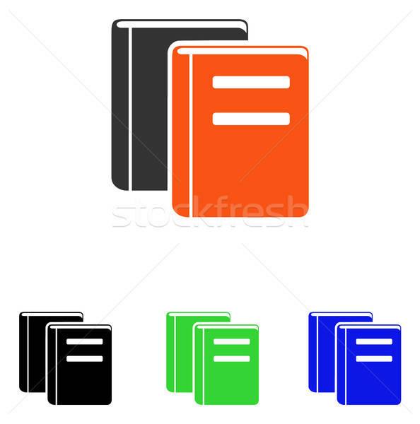 Books Flat Vector Icon Stock photo © ahasoft