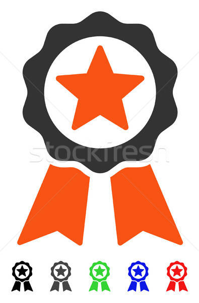 Certification Seal Flat Icon Stock photo © ahasoft