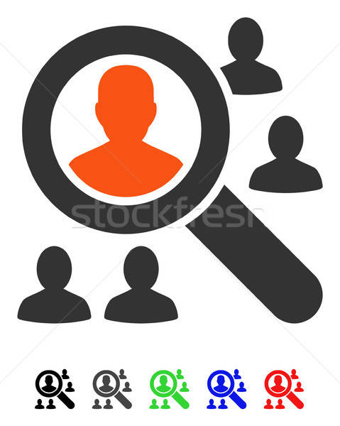 Explore Patients Flat Icon Stock photo © ahasoft