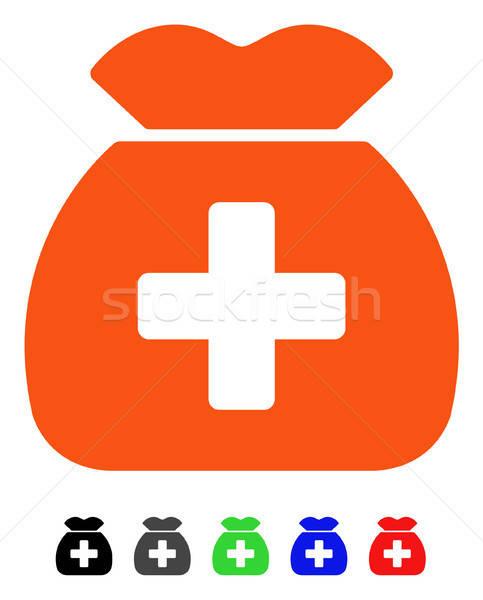медицинской фонд икона вектора пиктограммы Сток-фото © ahasoft