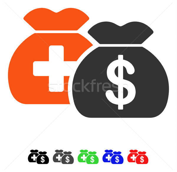 Medical Fund Bags Flat Icon Stock photo © ahasoft