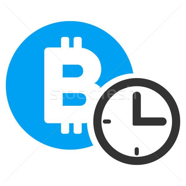 Bitcoin kredit óra ikon vektor piktogram Stock fotó © ahasoft