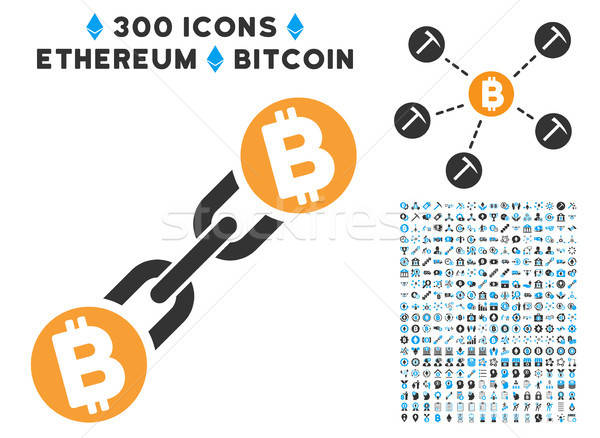 Bitcoin icon smart contract symbolen vector Stockfoto © ahasoft