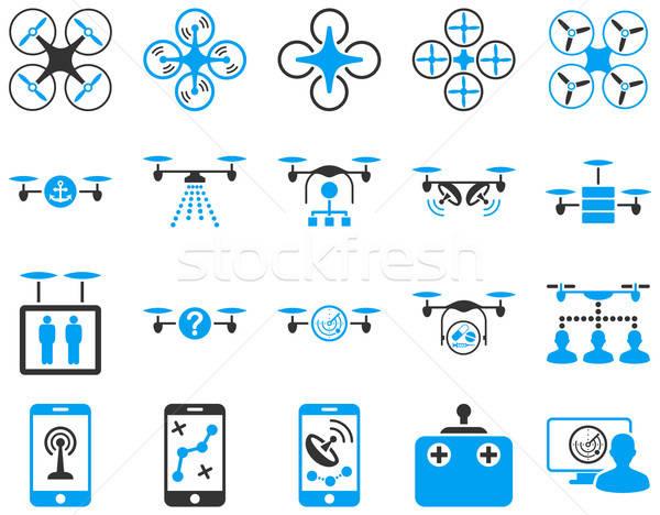 Levegő szerszám ikonok ikon gyűjtemény stílus vektor Stock fotó © ahasoft