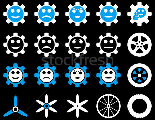 Stock photo: Tools and Smile Gears Icons