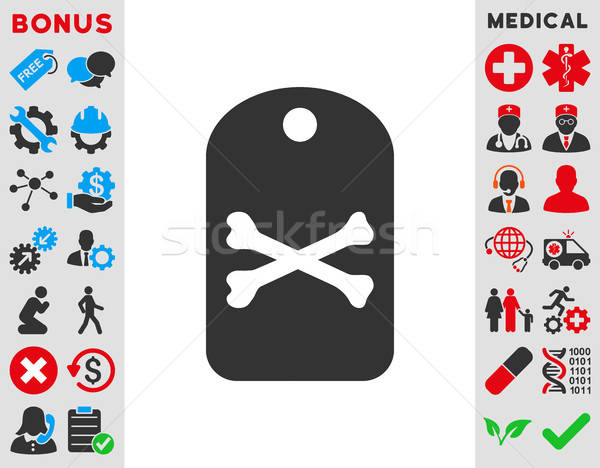 Death Tag Icon Stock photo © ahasoft