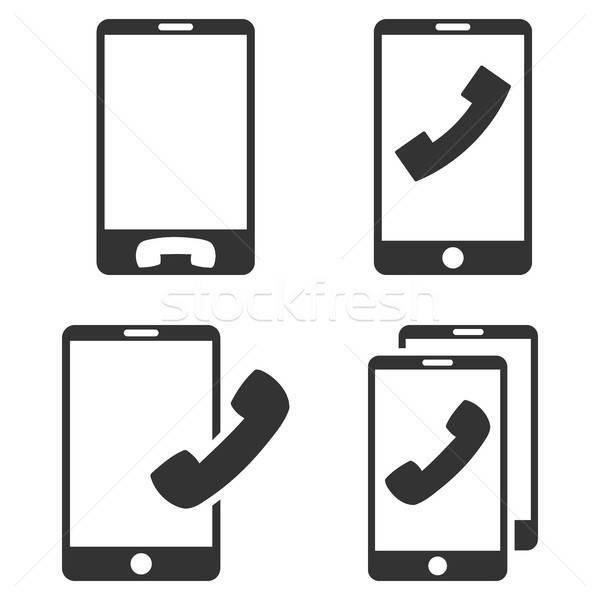 Teléfonos móviles vector icono clip art colección Foto stock © ahasoft