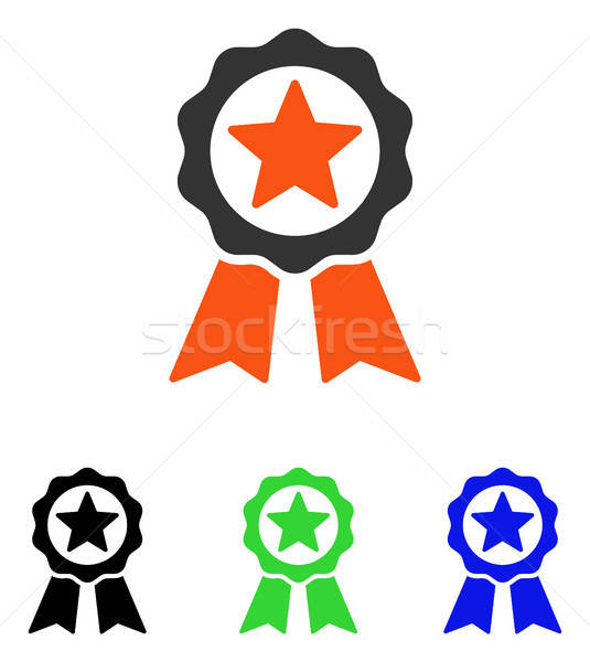 Certification Seal Flat Vector Icon Stock photo © ahasoft
