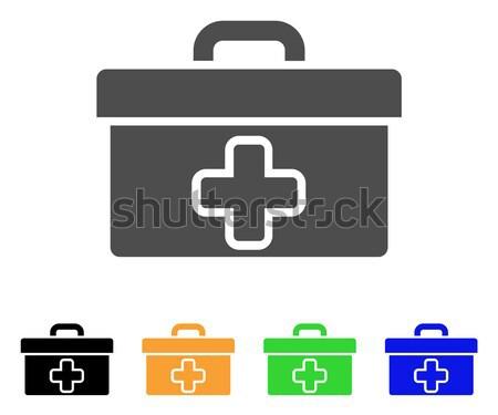 Premiers soins boîte à outils vecteur icône illustration style Photo stock © ahasoft
