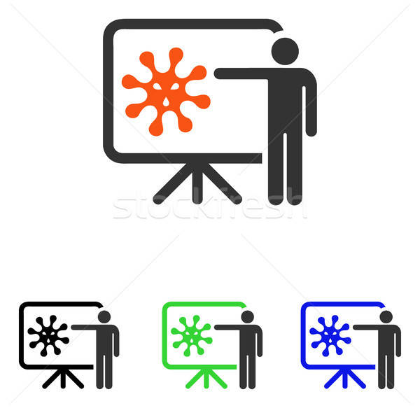 Virus Lecture Flat Vector Icon Stock photo © ahasoft
