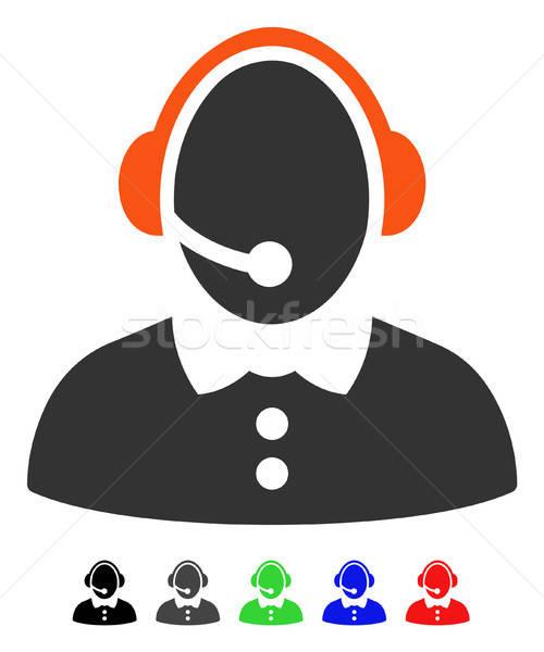 Centro de llamadas mujer icono vector color Foto stock © ahasoft
