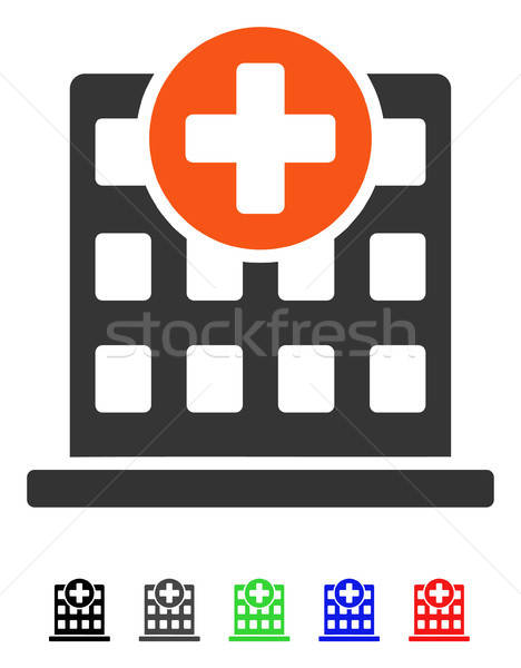 Clínica fachada icono vector color Foto stock © ahasoft