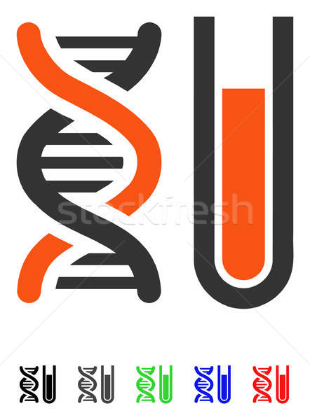 Genetic Analysis Flat Icon Stock photo © ahasoft