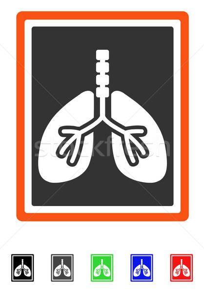 Lungs X-Ray Photo Flat Icon Stock photo © ahasoft