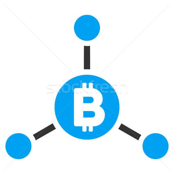 Bitcoin links icon vector toepassing web design Stockfoto © ahasoft