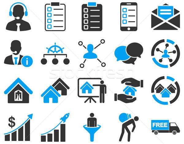 Stock fotó: üzlet · eladó · ingatlan · ikon · gyűjtemény · szimbólumok · modern