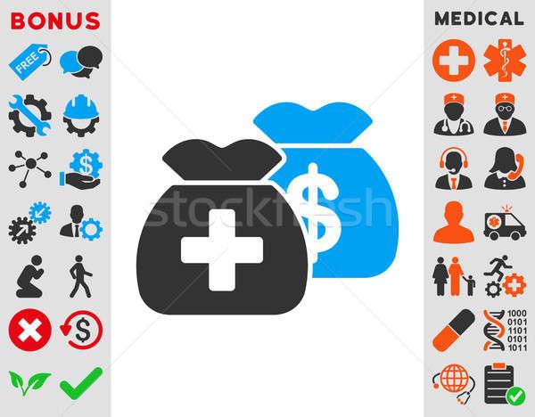 Gesundheitspflege Fonds Symbol Stil Symbol blau Stock foto © ahasoft
