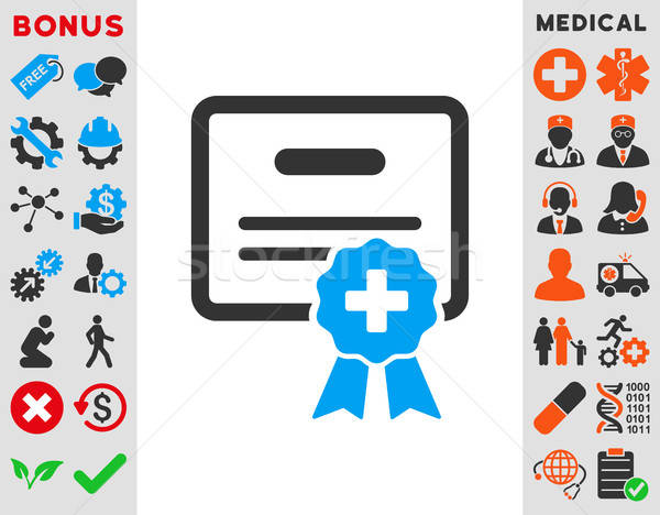 Medical Certification Icon Stock photo © ahasoft