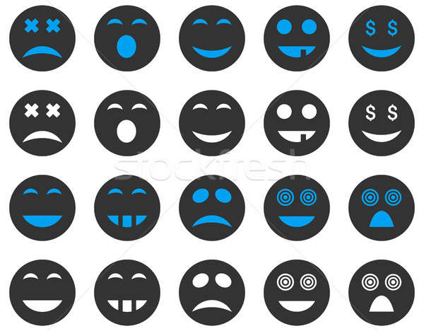 Smile and emotion icons Stock photo © ahasoft