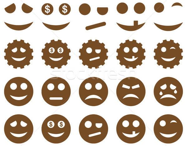 Araçları dişliler gülümsüyor simgeler vektör Stok fotoğraf © ahasoft