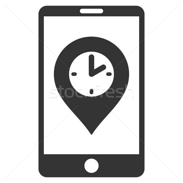 Mobile Time Pointer Flat Raster Icon Stock photo © ahasoft