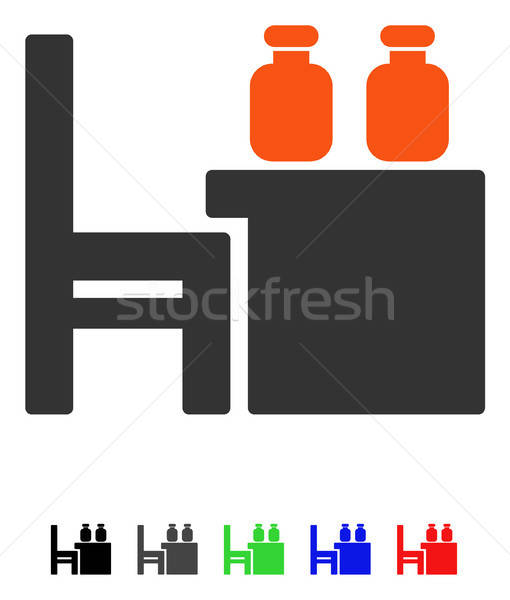 Apothecary Table Flat Icon Stock photo © ahasoft