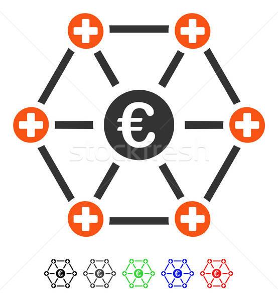 евро медицинской сеть икона вектора пиктограммы Сток-фото © ahasoft