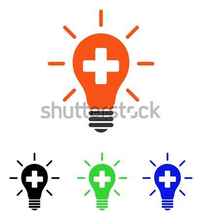 Médico elétrico lâmpada ícone vetor Foto stock © ahasoft