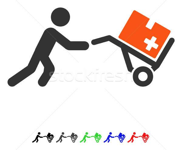 Medical Shopping Cart Flat Icon Stock photo © ahasoft