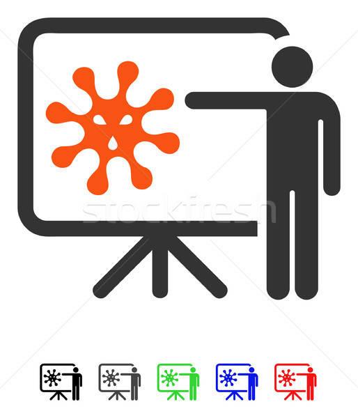 Wirusa wykład ikona wektora kolorowy kolor Zdjęcia stock © ahasoft