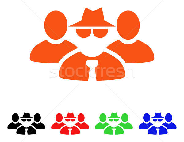 Mafia People Group Vector Icon Stock photo © ahasoft
